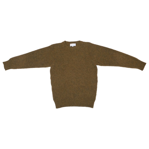 Shetland Woollen Co. Shaggy Dog Sweater, Dark Olive