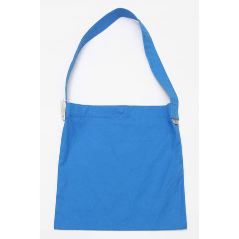 Thread-line Tokyo Canvas Flat Shoulder Bag, Blue