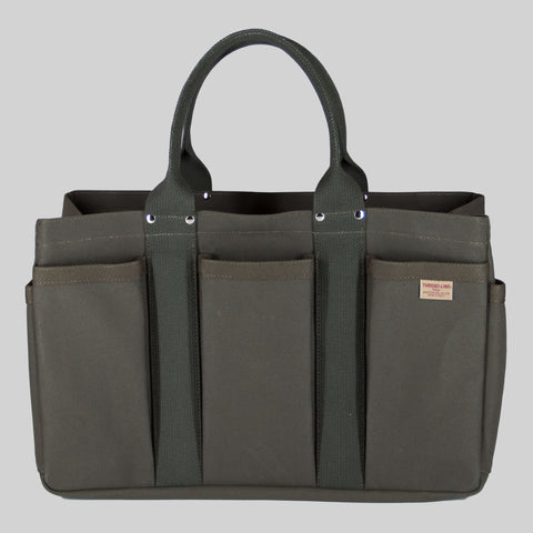 Thread-line Tokyo Heavy Canvas Tool Tote M, Green