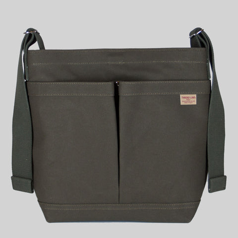 Thread-line Tokyo 2 Pockets Shoulder Bag, Green