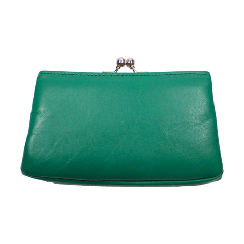 Matsunoya Leather Square Coin Case, Green
