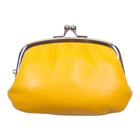 Matsunoya Leather Coin Purse, Yellow