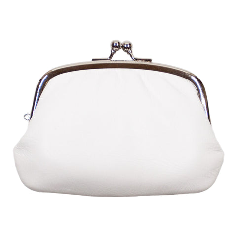 Matsunoya Leather Coin Purse, White