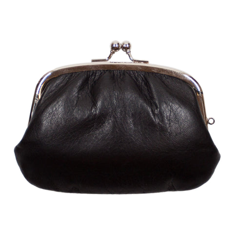Matsunoya Leather Coin Purse, Black