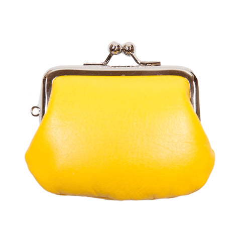 Matsunoya Leather Mini Coin Case, Yellow