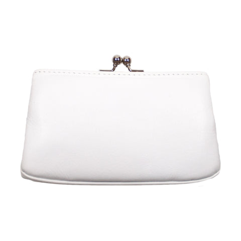 Matsunoya Leather Square Coin Case, White