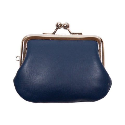 Matsunoya Leather Mini Coin Case, Navy