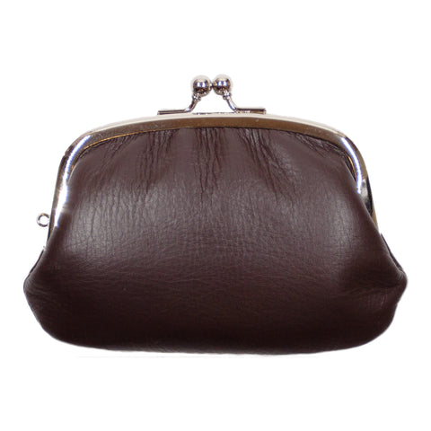 Matsunoya Leather Coin Purse, Brown