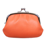 Matsunoya Leather Coin Purse, Orange
