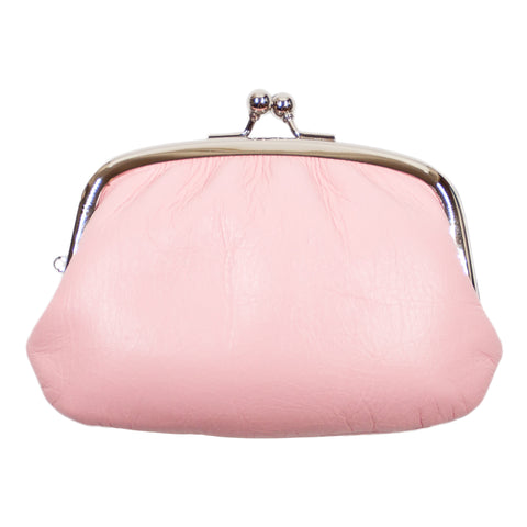 Matsunoya Leather Coin Purse, Pink