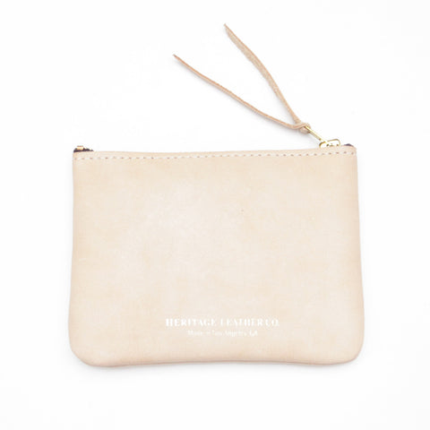 Heritage Leather Co. Pouch Wallet, Natural