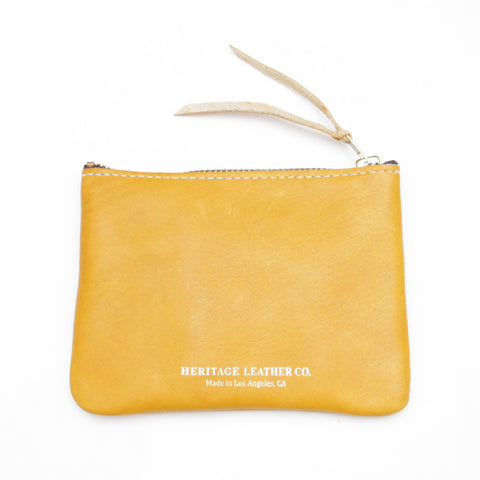 Heritage Leather Co. Pouch Wallet, Yellow