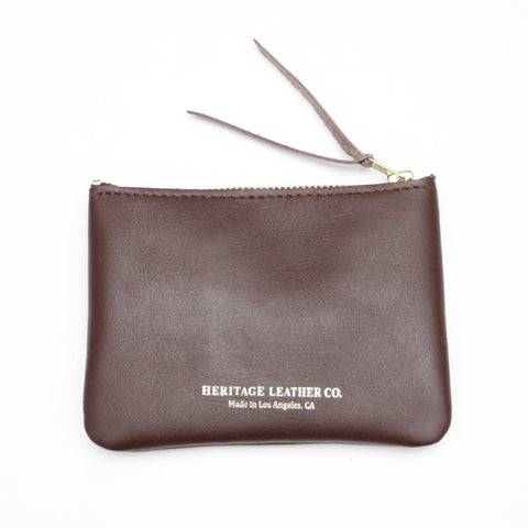 Heritage Leather Co. Pouch Wallet, Brown