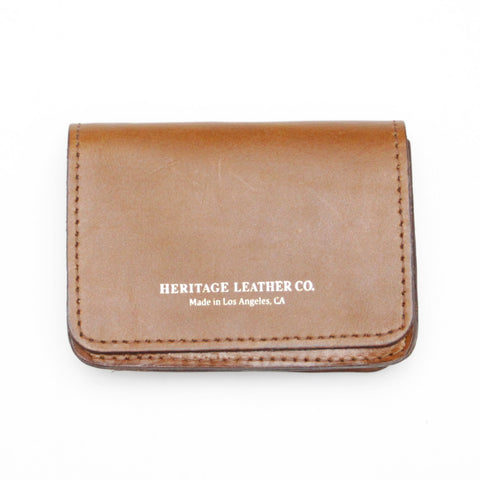 Heritage Leather Co. Multi Pocket Wallet, Light Brown