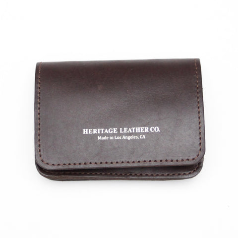 Heritage Leather Co. Multi Pocket Wallet, Brown