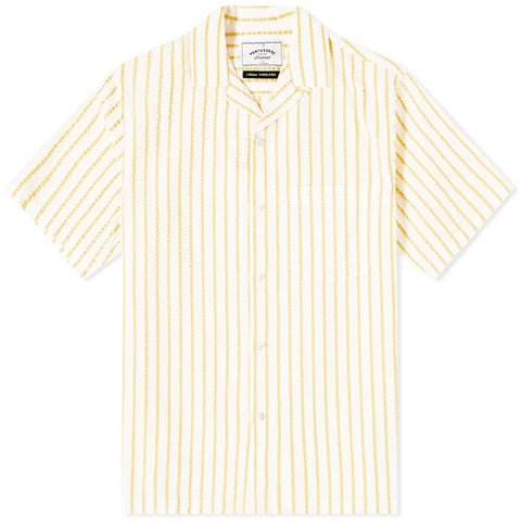 Portuguese Flannel, Rayures, Yellow / White
