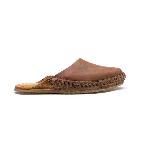 Mohinders Solid Slides, Oiled Leather