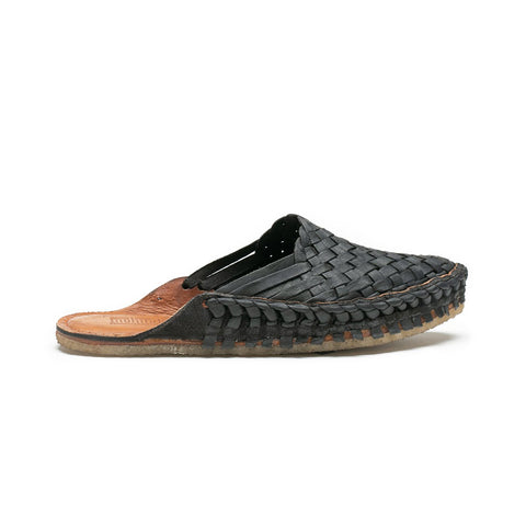 Mohinders Woven Slides, Iron-Dyed Black