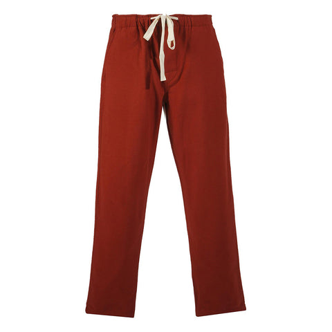 Portuguese Flannel Chemy Trousers, Bordeaux