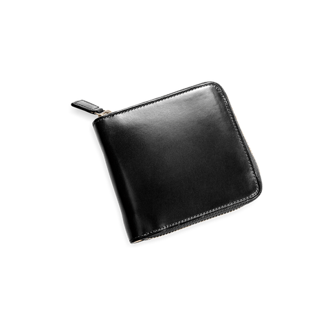 Il Bussetto Square Zip Wallet, Black
