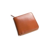 Il Bussetto Square Zip Wallet, Light Brown