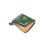 Il Bussetto Small Zippy Wallet, Dark Green