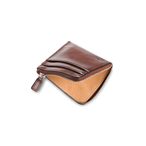 Il Bussetto Small Zippy Wallet, Cappuccino