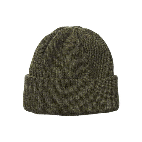 RoToTo Bulky Watch Cap, Olive/Charcoal