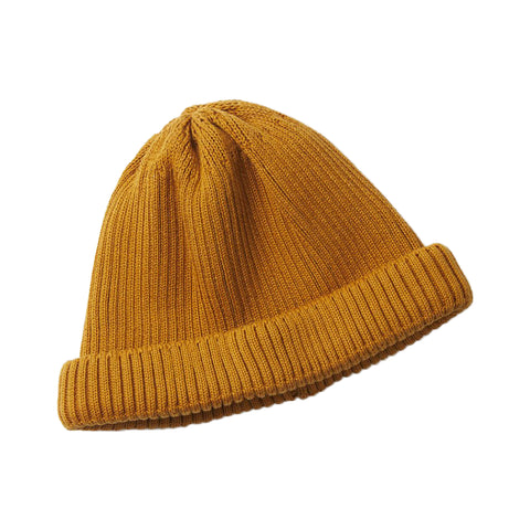 RoToTo Roll Up Beanie, Yellow
