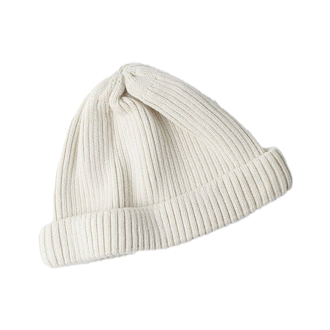 RoToTo Roll Up Beanie, Ivory