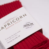 Capricorn Mohair Socks, Sussex Socks, Red