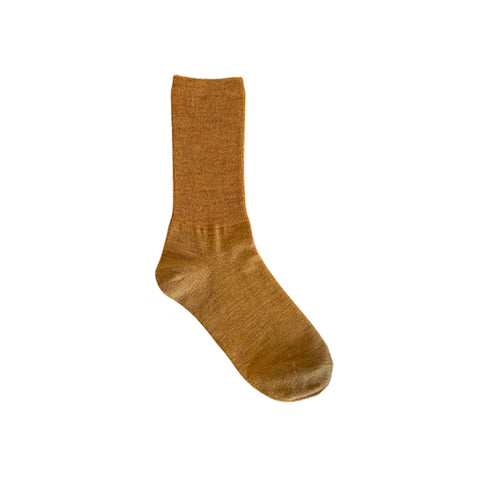 Hakne Merino Wool Ribbed Socks, Mustard
