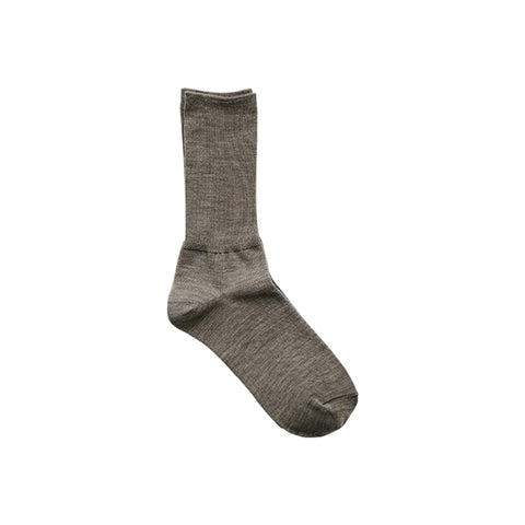 Hakne Merino Wool Ribbed Socks, Oatmeal