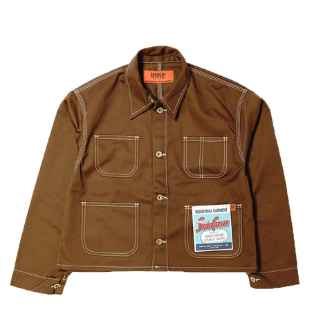 Universal Overall Short Coverall, Mocha