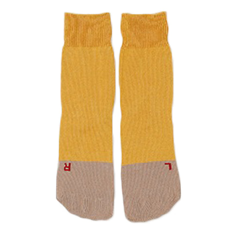 RoToTo Secret Five Fingers Socks, Mustard/Sand