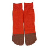 RoToTo Secret Five Fingers Socks, Orange/Brown