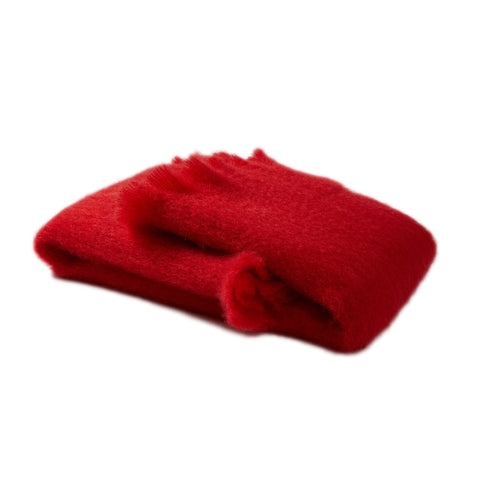 Mantas Ezcaray Mohair Scarf, Red