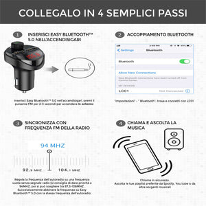 Easy Bluetooth™ 5.0 per auto senza bluetooth
