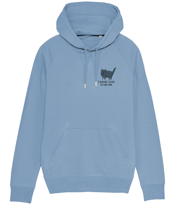 Looking Good Feline Fine Embroidered Hoodie