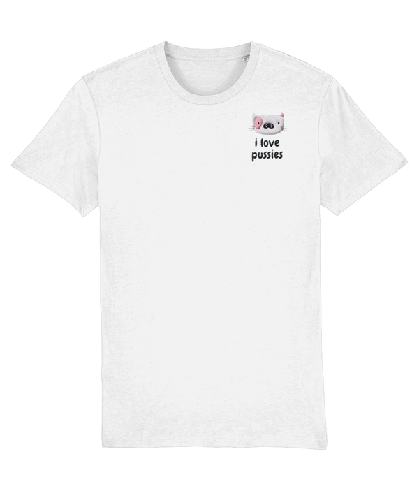 I Love Pussies Embroidered Tee