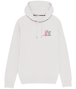 More Dogs Less People Embroidered Hoodie Grey
