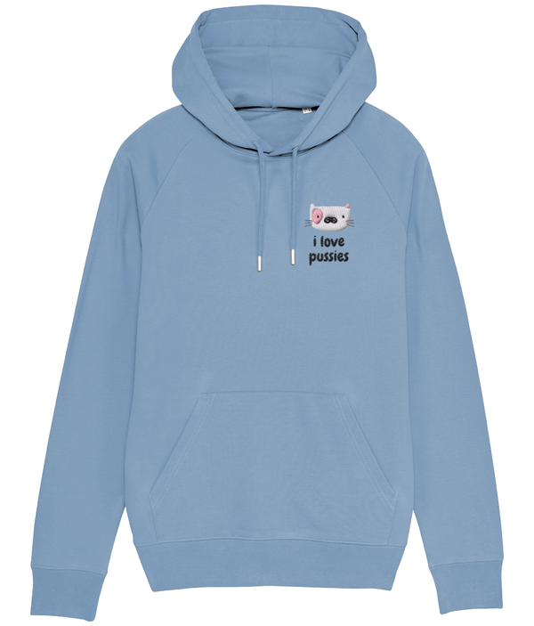 I Love Pussies Embroidered Hoodie