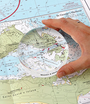 GRANDE VIEW MAGNIFIER WITH COMPASS ROSE