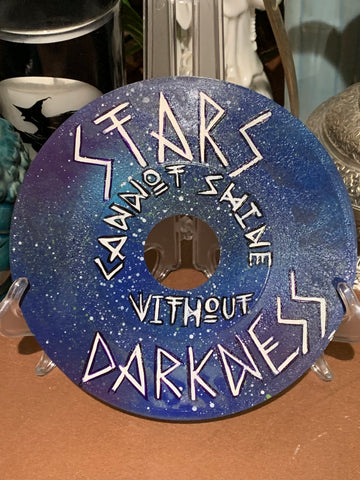 "6.5"" Handpainted Record - Stars cannot shine without darkness"