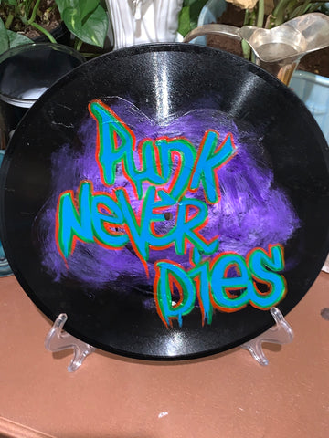"9.5"" Handpainted Record - Punk Never Dies"