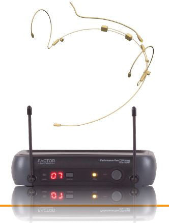FACTOR WM-1UHF-HS UHF Wireless Headset Microphone System - PAM Distributing Co - 1