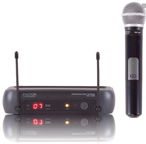 FACTOR WM-1 WIRELESS HAND HELD UHF MIC SYSTEM - PAM Distributing Co - 1
