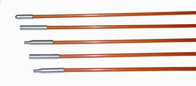 "Fiberfish II Rod Kit, Wire Installation Rods, 6' length x 3/16"" Diameter (30' Total Length) Orange - PAM Distributing Co - 1"