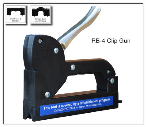 Telecrafter RB4 Cable Clip / Staple Gun For Dual RG 6 - PAM Distributing Co - 1