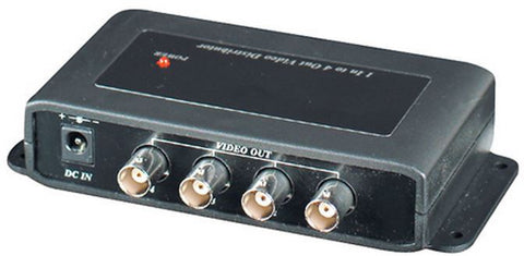 SEESTATION CD104 Single Input to 4 Output Video Splitter / Distributor  (BNC) - PAM Distributing Co